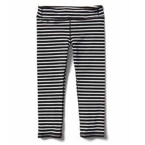 athleta GIRL • black white striped tights Leggings